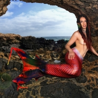 Meerjungfrau bei Ebbe